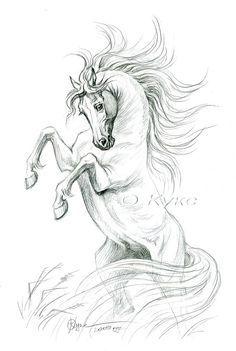 рисунок карандашом Very cool and I love the mane 💖👏 Horse Drawings, Pencil Art Drawings, Animal Drawings, Drawing Sketches, Arte Equina, Horse Sketch, Horse Artwork, Horse Silhouette, Equine Art