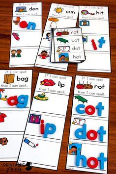 Kindergarten Language Arts, Kindergarten Centers, Kindergarten Classroom, Literacy Centers, Autism Classroom, Kindergarten Reading Corner, Spelling Centers, Abc Centers, Kindergarten Worksheets