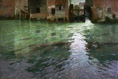 Frits Thaulow - Water Mill [1892] | Flickr - Photo Sharing!