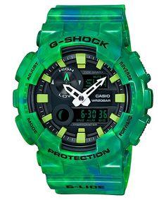 Casio Men's 'G-Shock' Analog-Digital Green Watch Casio G Shock Watches, Big Watches, Sport Watches, Cool Watches, Watches For Men, Wrist Watches, Luxury Watches, Casio G-shock, Casio Watch