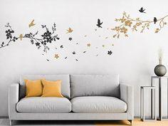 Wandtattoo Baum Mit Blätter Und Vögel | Wandtattoo Baum | Pinterest |  Wandtattoo Baum, Wandtattoo Und Baum