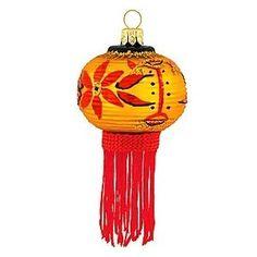 Japanese Lantern Glass Ornament