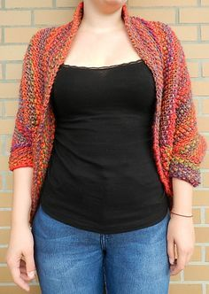 Knit a beautiful and cozy shrug in every color of the rainbow! :)