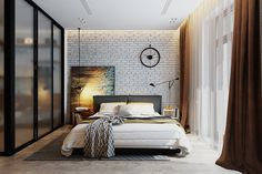 modern interiors & architecture — Creative bedrooms with brilliant accent…