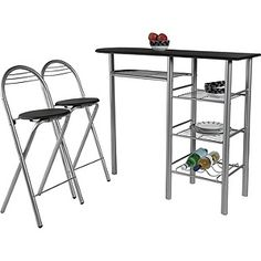 Buy HOME Amelia Breakfast Table and 2 Chairs - Black at Argos.co.uk, visit Argos.co.uk to shop online for Bistro sets