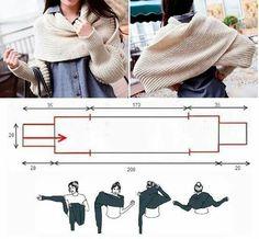 Warm Hug Shrug Crochet pattern by Sincerely Pam Shrug Knitting Pattern, Hand Knitting, Knitting Patterns, Sewing Patterns, Crochet Patterns, Mode Crochet, Knit Crochet, Sewing Clothes, Diy Clothes