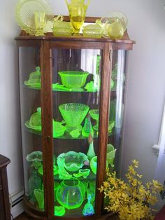 be it for their color, shape, rarity, or material; Uranium glass (or Vaseline glass, as it's also called, known for its petroleum jelly yellow color) is just as highly sought after, and perhaps even more intriguing than Depression glass because of its chemical makeup,