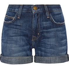 Current/Elliott The Boyfriend denim shorts (3.135 ARS) ❤ liked on Polyvore featuring shorts, bottoms, short, mid denim, jean shorts, denim shorts, blue jean shorts, boyfriend jean shorts and frayed shorts