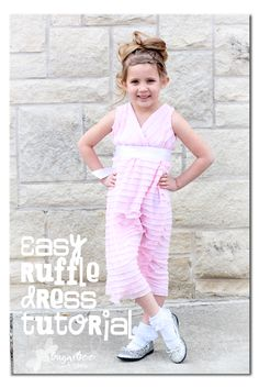 Easy Ruffle dress tutorial