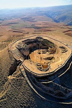 King Herod's Tomb - Judea, ISRAEL This is an aerial view of the mound I look out at through our apartment windows every day.