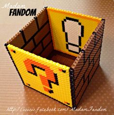 Mario box by Madam Fandom http://www.facebook.com/MadamFandom #Mario #SuperMarioBros #PerlerBeads #MadamFandom