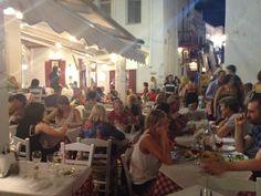 Nikos Tavern at Mykonos (Mökene) Mykonos, Lesvos, Μύκονος, Mökene, Mytillini, Athens, Tyre, Santorini, Oia, Fira, Greece, Grek, Summer, Holiday via Tanerozcelik.com
