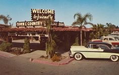 Town & Country Village - Sacramento, California built in the 1940's by Jerre Strezik.  I can remember sitting in the car with my mother while my dad and Jerre stood out in the pouring rain discussing the first foundation at the NW end when Jerre first broke ground in the 1940s.