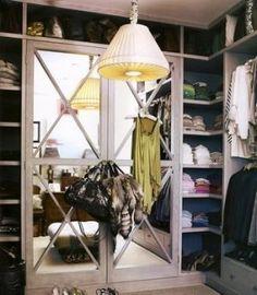 Celebrity closet ideas - mirrored-closet | More on the Luscious website: http://mylusciouslife.com