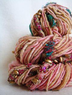 Hand Spun Art Yarn - Noorjahan by Yarnmantra, via Flickr