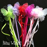 Mini Ribbon Butterfly Wands $0.80 each  As favors instead of bags full of junk