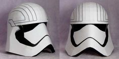 Star Wars - Life Size Captain Phasma Helmet Papercraft Free Template Download - http://www.papercraftsquare.com/star-wars-life-size-captain-phasma-helmet-papercraft-free-template-download.html#11, #CaptainFazuma, #CaptainPhasma, #Helmet, #LifeSize, #Phasma, #StarWars