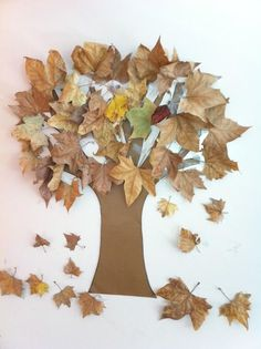 Education and ICT: 30 original ways to decorate our school in the fall Easy Fall Crafts, Thanksgiving Crafts For Kids, Kids Crafts, Diy And Crafts, Arts And Crafts, Leaf Projects, Fall Projects, Autumn Activities, Activities For Kids