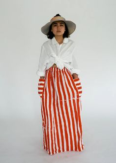 CLOTHING – STATE Bold Stripes, Summer Skirts, Diy Clothing, Making Ideas, Thrifting, Elastic Waist, Organic Cotton, High Waisted Skirt, How To Wear
