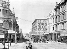 With the advent of the electric tramways and the many handsome structures lately erected, this street has become a very fashionable shopping centre Old Pictures, Old Photos, Johannesburg City, Street Art, Street View, Car In The World, African History, Old City, Public Art