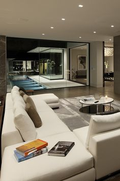 This is what a living room is supposed to look like, a vast space to relax, and enjoy your entertainment/surroundings. YES!!!