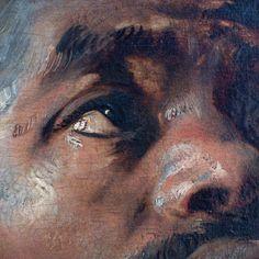 Peter Paul Rubens  Four Studies of a Male Head  Netherlands (c. 1617-19)  Oil on canvas transferred from wood, 51 x 66 cm.  Musées Royaux des Beaux-Arts, Brussels. https://supernaut.info/2015/06/koninklijke-musea-voor-schone-kunsten-van-belgie-musee-oldmasters-museum-peter-paul-rubens-vier-studies-van-het-hoofd-van-een-moor