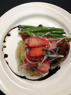 strawberry balsamic chicken  http://www.westmichigancaterer.com