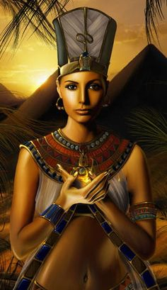"""Ancient Egyptian Queen Nefertiti """"Beautiful are the Beauties of Aten, the Beautiful one has come"""" Egyptian Beauty, Egyptian Queen, Egyptian Goddess, Egyptian Art, African Goddess, Egyptian Pharaohs, Ancient Beauty, African American Art, African Art"""