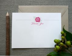 Thank You Cards  Bridal Shower  Set of 10  by SideStreetDesigns, $17.50