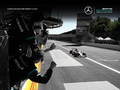 AMG Petronas cerebrates the win @ Monza after the 2015 #F1 Italian Grand Prix