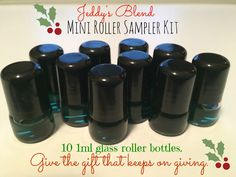 Jeddy's Blend Mini Glass Roller Bottle Sampler Kit. These are great to send with your child in their pocket to school.