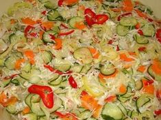 Csalamádé recept II. My Recipes, Salad Recipes, Cooking Recipes, Favorite Recipes, Croatian Recipes, Hungarian Recipes, Cold Vegetable Salads, Gyro Pita, No Bake Cake