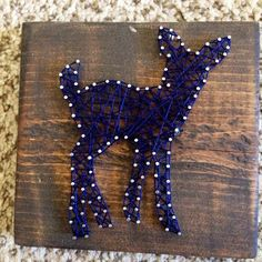 Mini String Art Deer Navy 5.5 x 5.5 by nidification on Etsy
