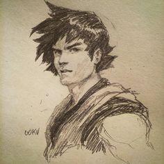 Goku sketch by Dave Rapoza