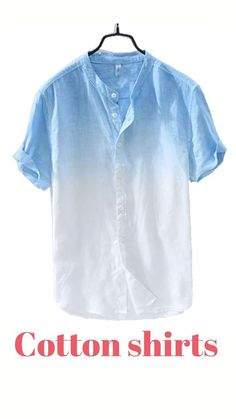 Feel comfortable and stylish with this fresh Summer Cotton Shirt made with premium-grade cotton, and tailored to fit just right! This may just be the missing piece to your summer and spring clothing collection! Recycled Shirts, Color Patterns, Spring Outfits, Favorite Color, Casual Shirts, Cotton Fabric, Missing Piece, Mens Fashion, Stylish