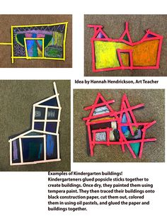 Idea by Hannah Hendrickson, Art Teacher. Examples of Kindergarten buildings…