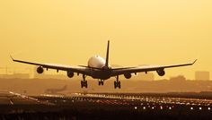 Jumbo Jet Landing at OR Thambo international  airport