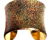 Metallic Gold Stingray Leather Cuff Bracelet Gold Lined- by UNEARTHED