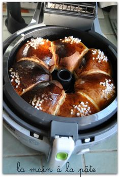 Brioche with vanilla, baking the Actifry Raclette Vegan, Tefal Actifry, Croissants, Make French Toast, Home Baking, Air Fryer Recipes, Cravings, Brunch, Crack Crackers