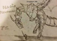 dragão prisioneiro , minha criação. minha página no facebook: https://www.facebook.com/Umdragaopordia