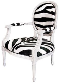 Zebra Print French Chair
