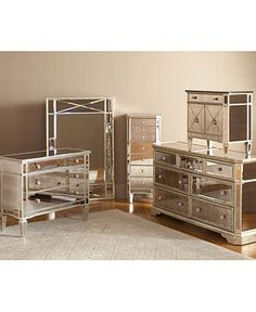 Marais Bedroom Furniture Sets & Pieces, Mirrored - Bedroom Furniture - furniture - Macys