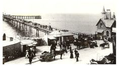 A collection of haunting pictures of the only pier to link mainland Britain to an island are released. In its heyday, Birnbeck Pier in Weston-super-Mare was the Victorian equivalent of a modern theme-park Haunted Pictures, North Somerset, Weston Super Mare, British Seaside, British History, Back In The Day, Great Britain, Paris Skyline, Street View