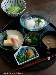 【一汁一菜・器替わり】File No.20 冷やし素麺|和食器の愉しみ・工芸店ようび