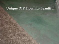 Unique DIY Flooring to love!  Great ideas for something different- beautiful and CHEAP!