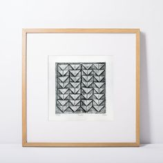 Original 6x6 collagraph fine art print  Folds by ParchmentMoon