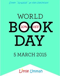 Enter `Iqra2015` at the checkout to claim your 10% off any books. Offer Valid until 5th March 2015.