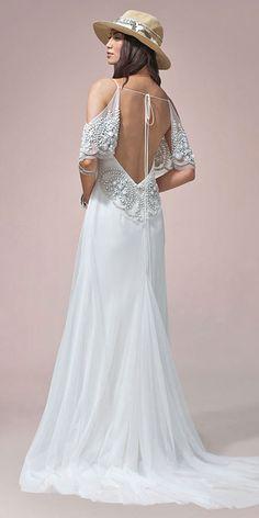 Boho Wedding Dresses From Fabulous Nomadic Love Collection ❤ See more: http://www.weddingforward.com/boho-wedding-dresses/ #weddings