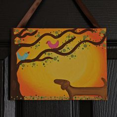 this is a 6 x 8 inches  Max and birds Spring art  @ my Etsy store   MaxMinnieandMe