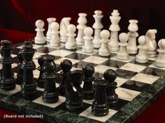 Majestic Marble Chess Men -- Details can be found by clicking on the image.